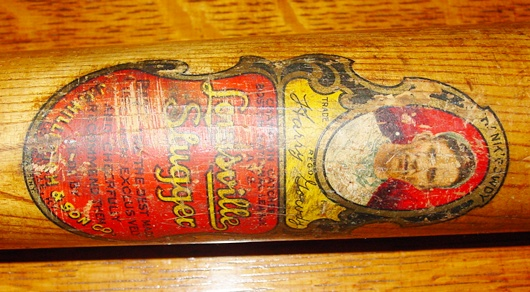 Vintage Harry Gowdy decal baseball bat 1918