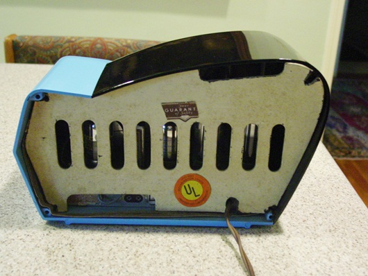 Neat blue and black Philco radio-Boomerang