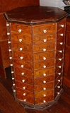 80 drawer Hardware bolt cabinet with stenciling