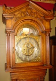 Superior oak tall clock Tiffany--moon dial