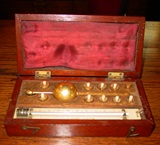Original 19th century Sikes Hydrometer-case