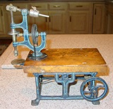 Marklin iron & wood toy live steam drill press