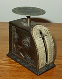 Neat antique desk top postal scale Jennings