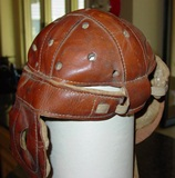 Wright & Ditson leather football helmet