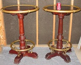 Rare matched pair French pub tavern tables